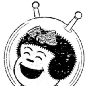 Cartoon image of Nancy wearing a space helmet